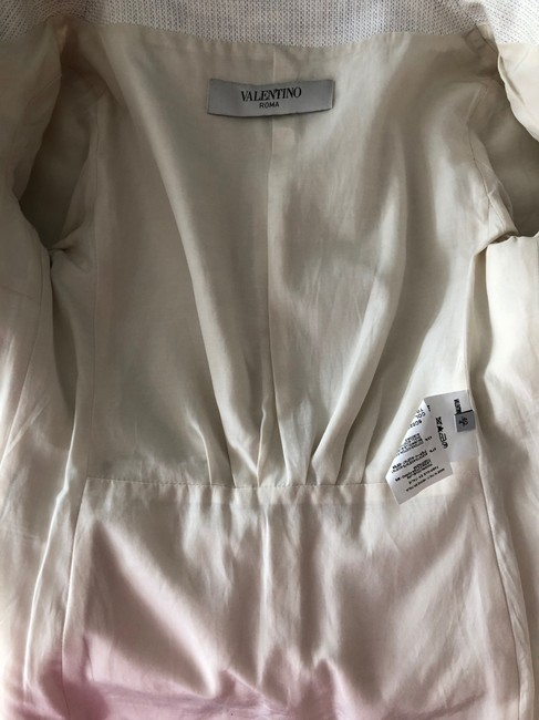 Valentino Jacket Size 4 White and Lavender Blazer Image 8