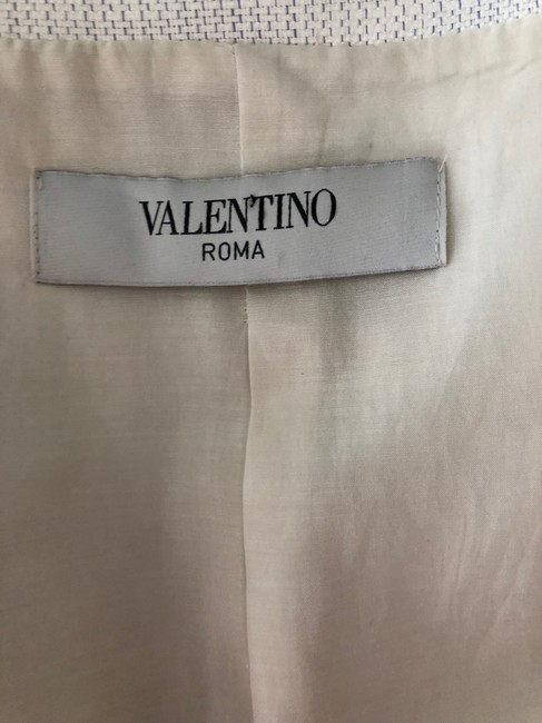 Valentino Jacket Size 4 White and Lavender Blazer Image 9
