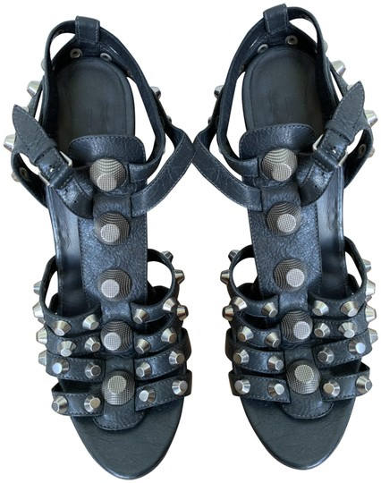 Preload https://img-static.tradesy.com/item/25007925/balenciaga-slate-gray-with-silver-studs-gladiator-sandals-size-eu-42-approx-us-12-regular-m-b-0-1-540-540.jpg
