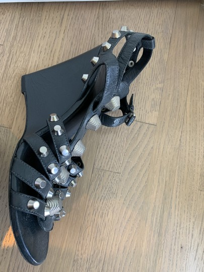 Balenciaga Gladiator Wedge Studded Slate gray with silver studs Sandals Image 2