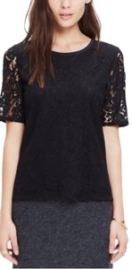 Madewell Lace Lace Top Black