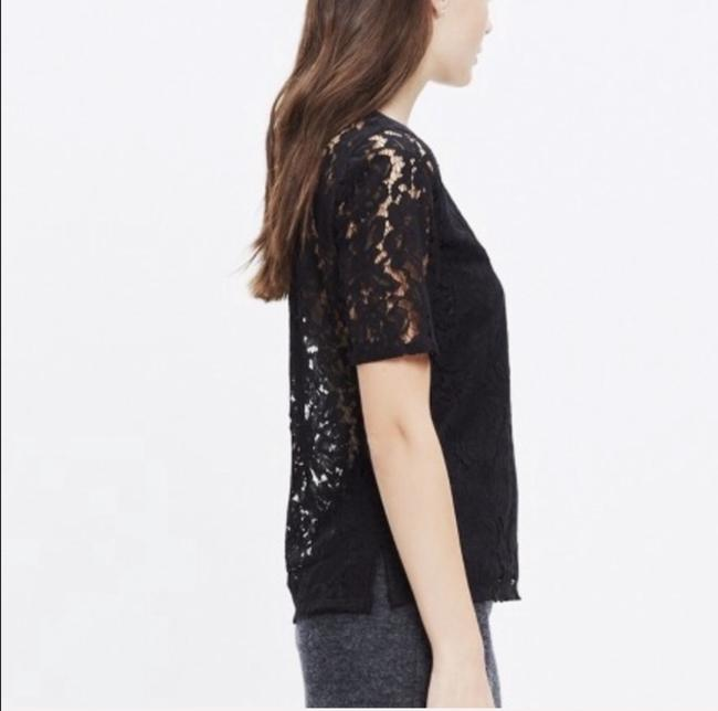 Madewell Lace Lace Top Black Image 1