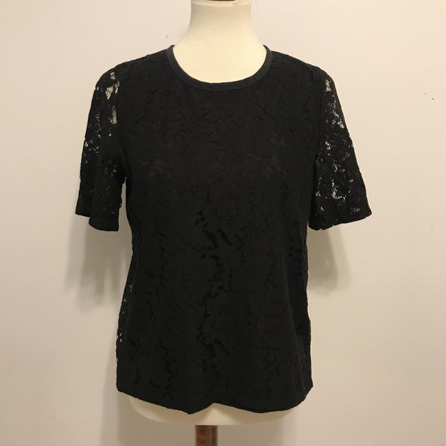 Madewell Lace Lace Top Black Image 2