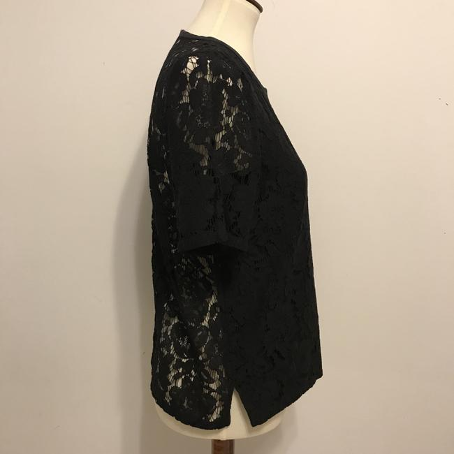 Madewell Lace Lace Top Black Image 3
