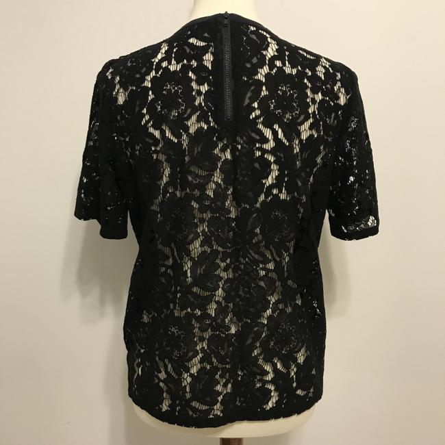 Madewell Lace Lace Top Black Image 4