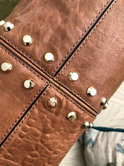 2fbb7505c6ad Michael Kors Shoulder Chain Studs Stud Tote in Whiskey Luggage Saddle Brown  Image 7