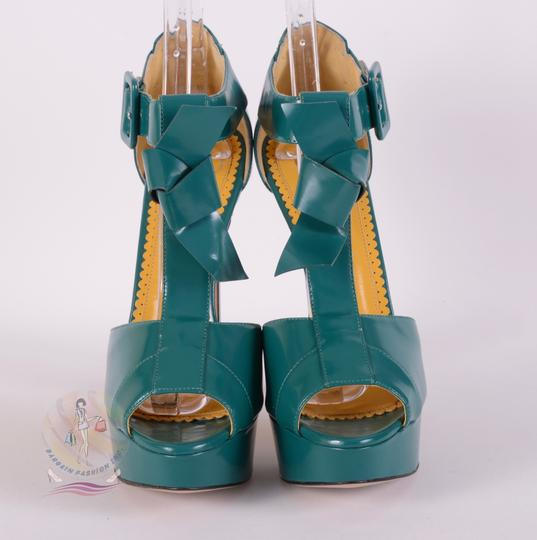 Charlotte Olympia Teal Pumps Image 2