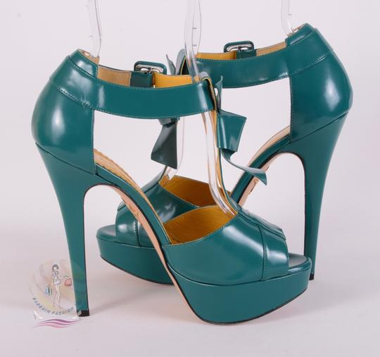 Charlotte Olympia Teal Pumps Image 3