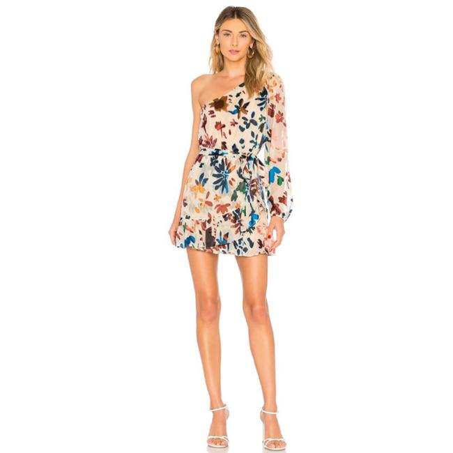 Item - Multicolor Ina Ombré Floral One-shoulder Short Night Out Dress Size 8 (M)