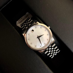 Movado BOX SET Movado Museum mother of Pearl Diamond Dial Steel Women's Watch