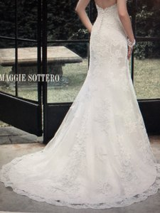 Maggie Sottero Champagne/ Ivory Maggie-sottero-rachelle Traditional Wedding Dress Size 10 (M)