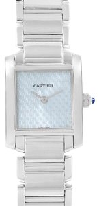 Cartier Cartier Tank Francaise 18K White Gold Blue Dial Ladies Watch 2403
