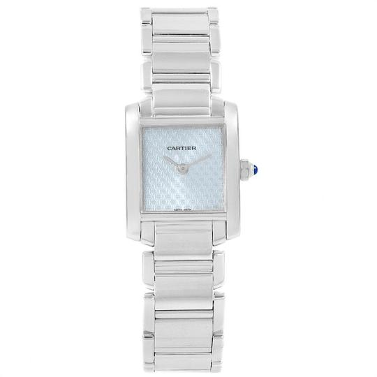 Cartier Cartier Tank Francaise 18K White Gold Blue Dial Ladies Watch 2403 Image 1