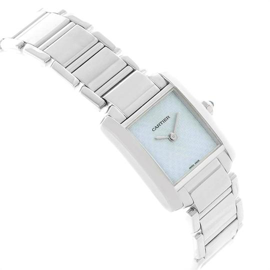 Cartier Cartier Tank Francaise 18K White Gold Blue Dial Ladies Watch 2403 Image 2