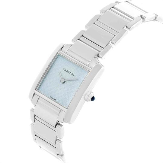 Cartier Cartier Tank Francaise 18K White Gold Blue Dial Ladies Watch 2403 Image 3