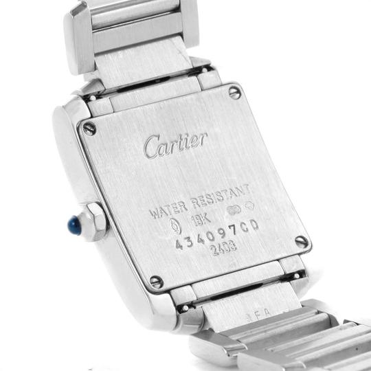 Cartier Cartier Tank Francaise 18K White Gold Blue Dial Ladies Watch 2403 Image 5