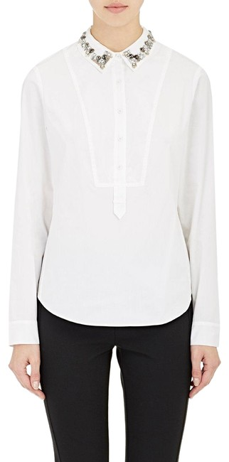 Preload https://img-static.tradesy.com/item/25008116/rebecca-taylor-white-women-s-embellished-collar-cotton-new-tee-shirt-size-10-m-0-1-650-650.jpg