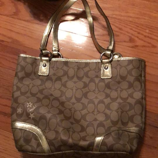Coach Tote in brown and gold Image 3