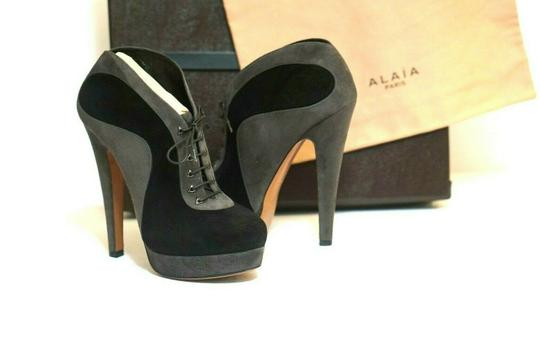 ALAA Sexy And Comfy Great Value Trusted Seller Black Grey Boots Image 3