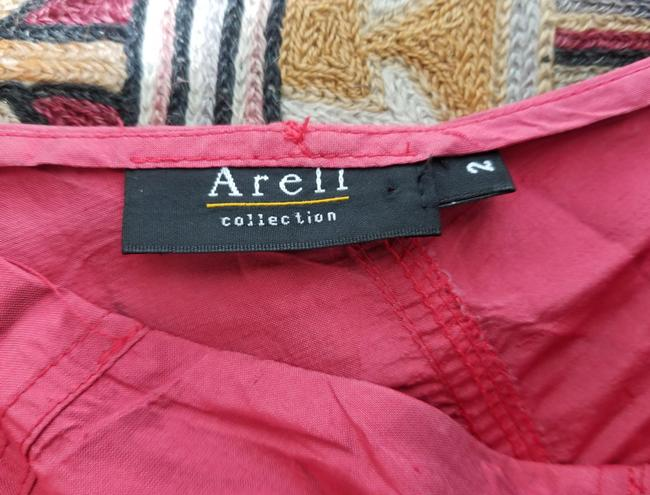 Areli Collection Diagonal Bias Cut Ruffle Balloon Y2k Party Outfit Full Skirt Muted Candy Apple Red Image 6