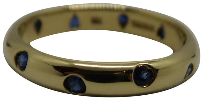 Item - 18k Yellow Gold and Blue Sapphire Etoile 4mm Ring