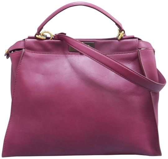 large-peekaboo-oxblood-calfskin-leather-satchel by fendi