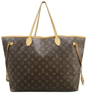Louis Vuitton Lv Neverfull Gm Canvas Monogram Shoulder Bag