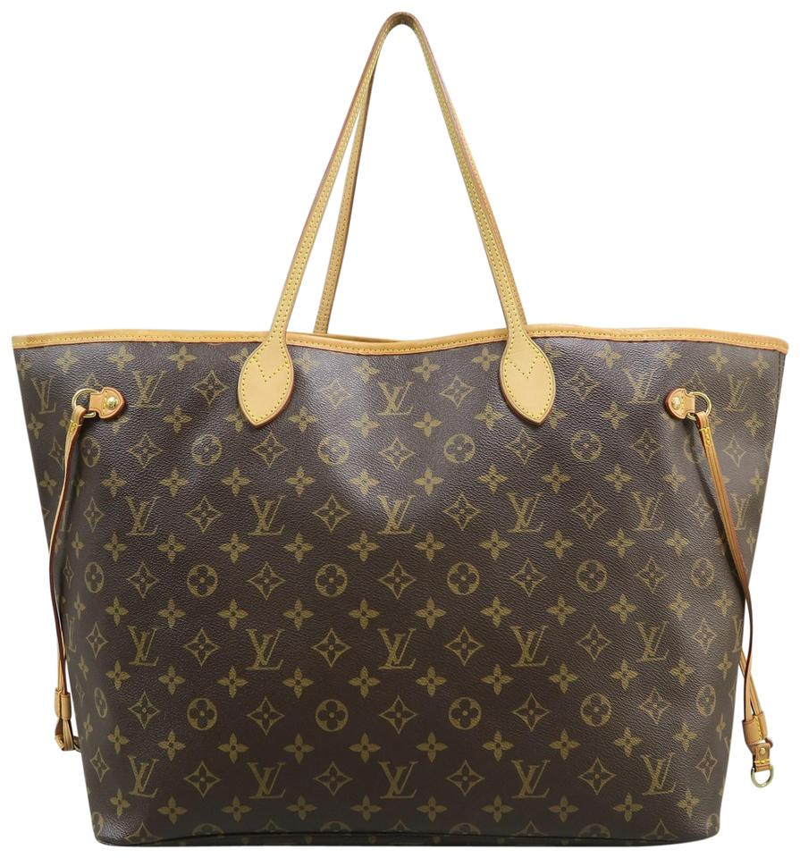 6d5210951fd8 Louis Vuitton Neverfull Gm Monogram Brown Canvas Shoulder Bag - Tradesy