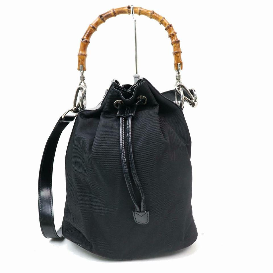 758faa4d532196 Gucci Removable Strap Backpack Or Purse Mint Condition Nylon/Leather Early  Satchel in black nylon ...