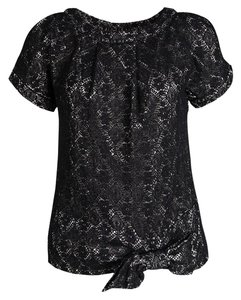 Marc by Marc Jacobs Cotton Polyester Nylon Top Black