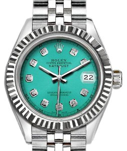 Rolex Ladies 26mm Rolex Datejust watch with Diamond Green Dial