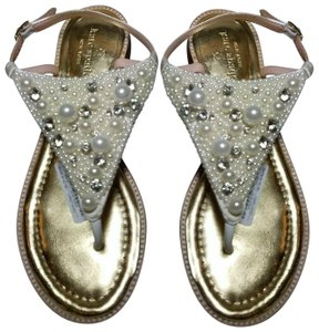 Kate Spade pearl/ gold Sandals