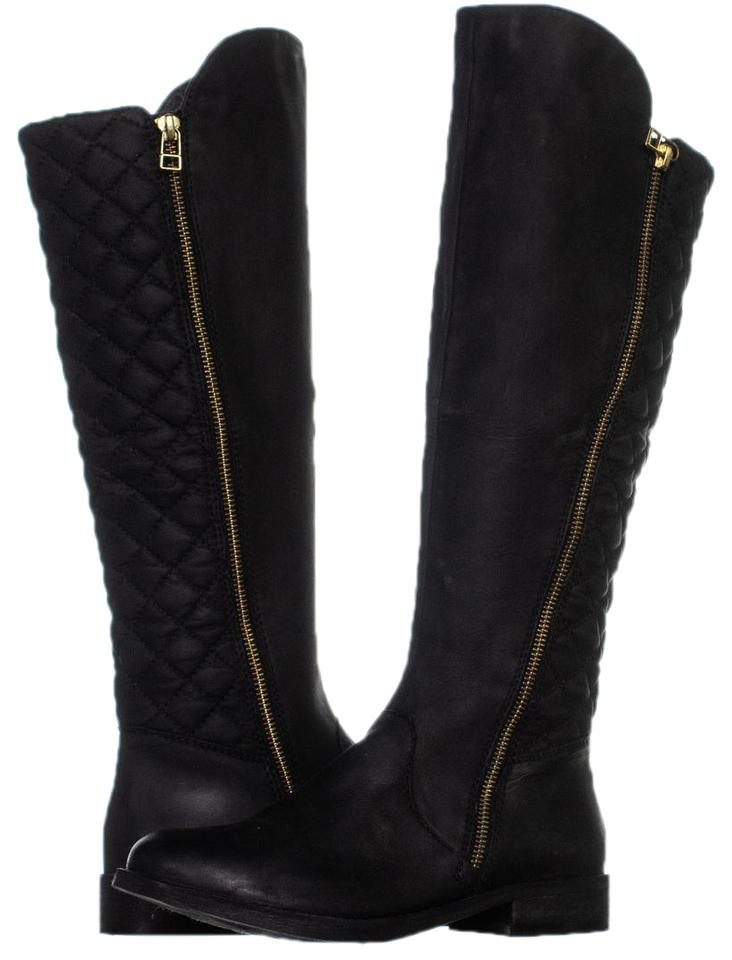 bd60138c6d8 Steve Madden Black Northsde Quilted Tall Motorcycle Zip-up 456  Boots/Booties Size US 7 Regular (M, B) 53% off retail