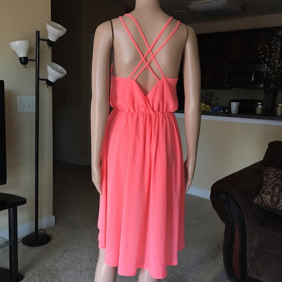 7fcd52d5e6ef Paradis Miss Coral High Low Mid-length Cocktail Dress Size 8 (M) - Tradesy