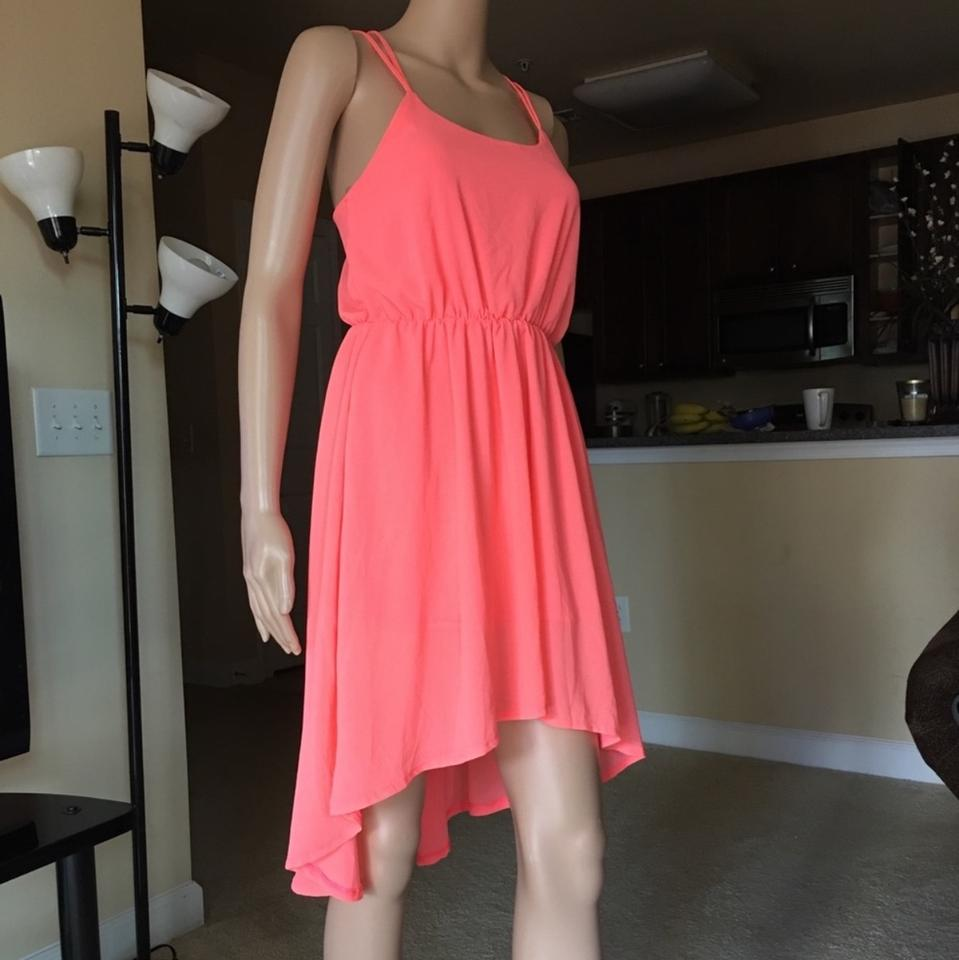 f211b57d80a8 Paradis Miss Coral High Low Mid-length Cocktail Dress Size 8 (M ...
