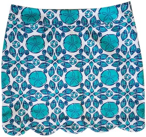 Vineyard Vines Mini Skirt Aqua and White