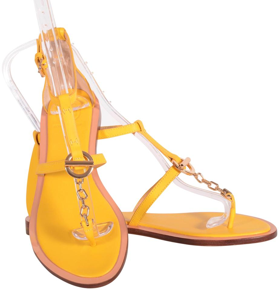 b640d5bc6 Tory Burch Yellow Leather Ankle Strap Sandals. Size  US 8 Regular (M ...