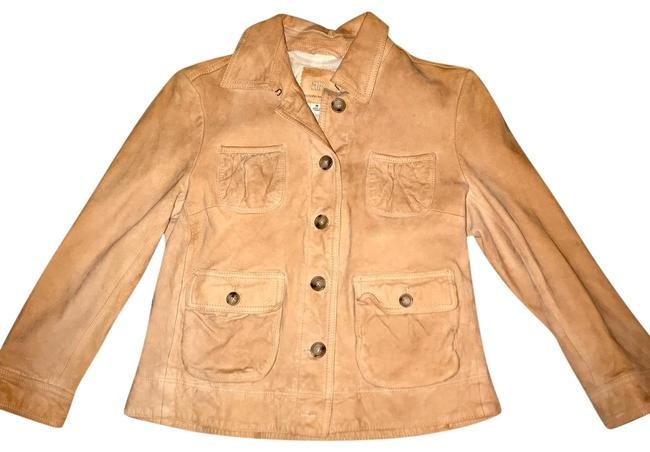 Item - Tan Fitted Jacket Size 8 (M)