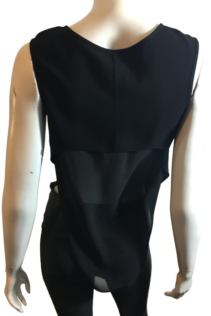 Rag & Bone Black XS W 10219 W/Sheer 1/2 Blouse Size 2 (XS) Rag & Bone Black XS W 10219 W/Sheer 1/2 Blouse Size 2 (XS) Image 1