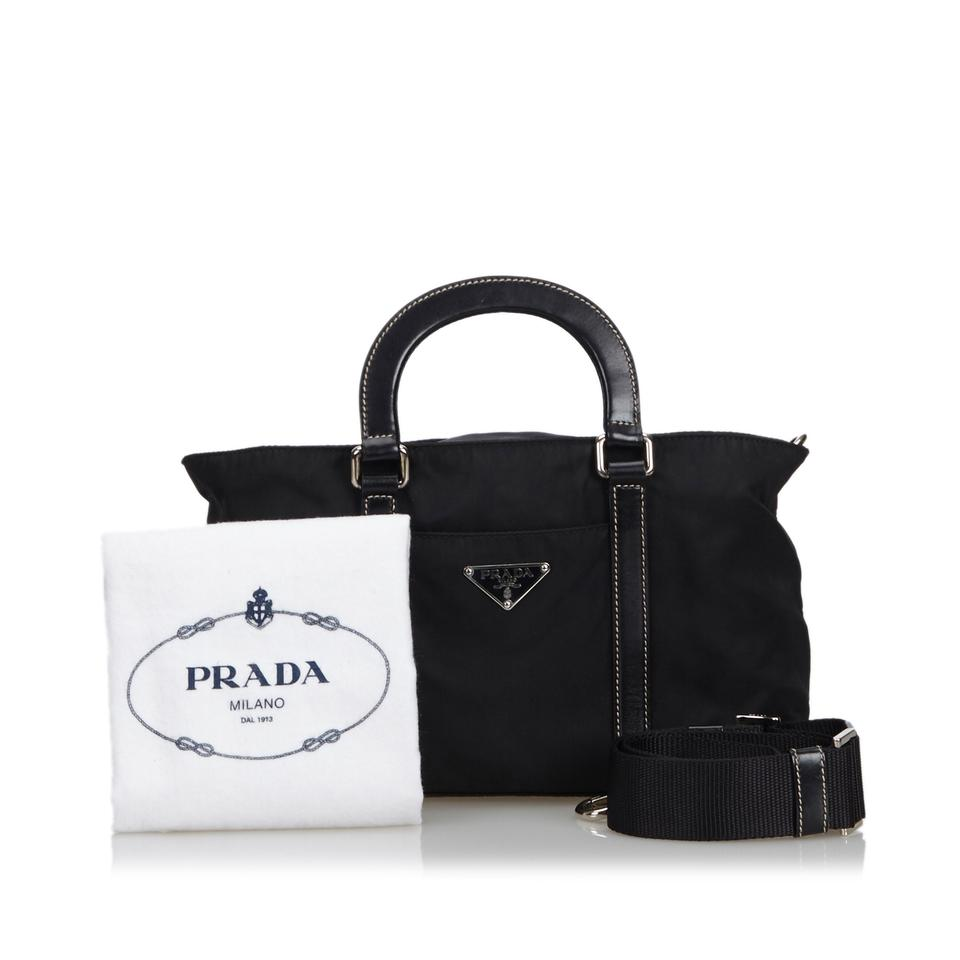 65cd4990483f Prada 9bprst027 Vintage Nylon Satchel in Black Image 11. 123456789101112