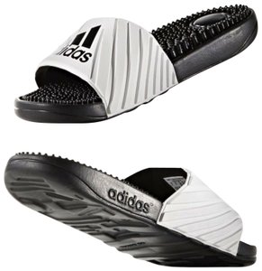 4a02a5c57ae31 adidas Open Toe Slip On Flat Slippers Sporty white Sandals