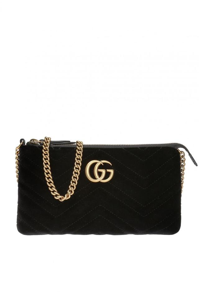 ae29f5436f9f Gucci Marmont Gg Mini Chain Black Suede Cross Body Bag - Tradesy