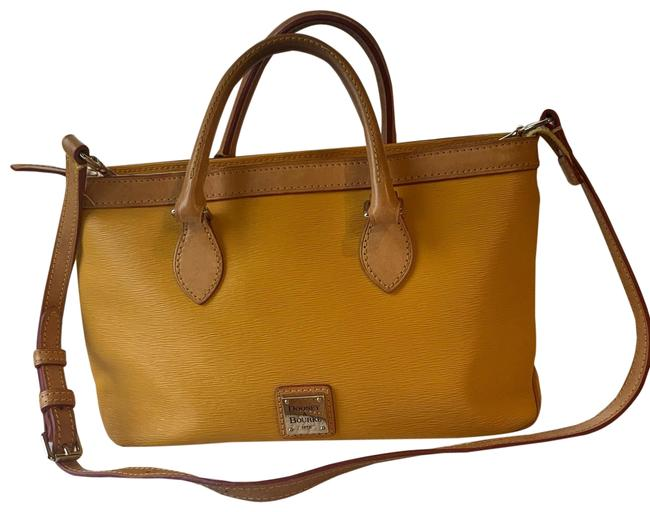 Item - And Zip Top Satchel Yellow Leather Messenger Bag