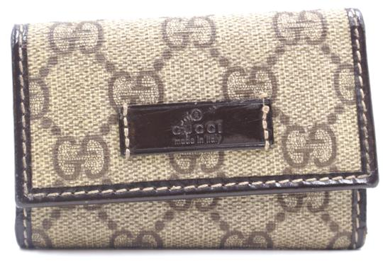 13cb720a61a Gucci  28113 Brown Guccissima Trifold 6 Ring Key Holder Wallet - Tradesy