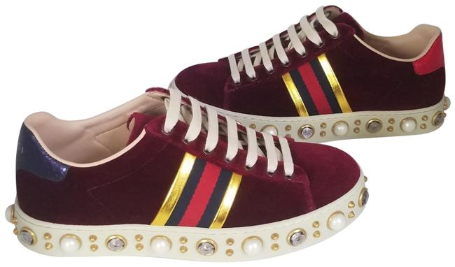 Item - Red Burgundy Yellow 2018 Ace Velvet Crystal Trainers Sneakers Size EU 35 (Approx. US 5) Regular (M, B)