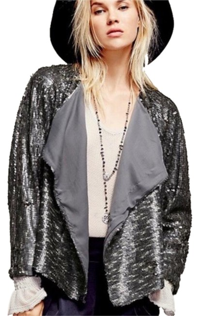 Item - Sequin Jacket Gray/Silver Top