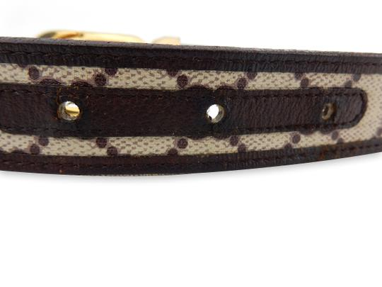 Gucci Supreme GG Monogram Canvas Leather Belt Gold Buckle 26