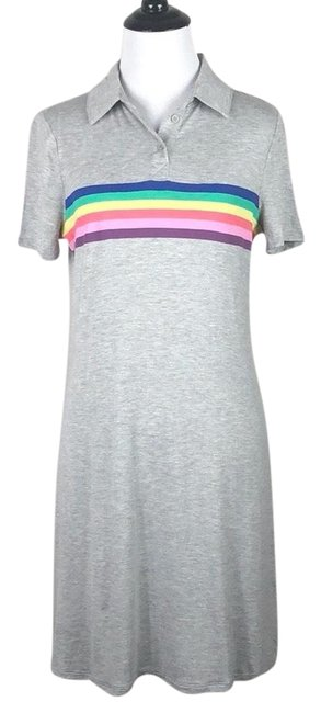 Preload https://img-static.tradesy.com/item/25011715/love-fire-gray-rainbow-striped-mid-length-short-casual-dress-size-8-m-0-1-650-650.jpg