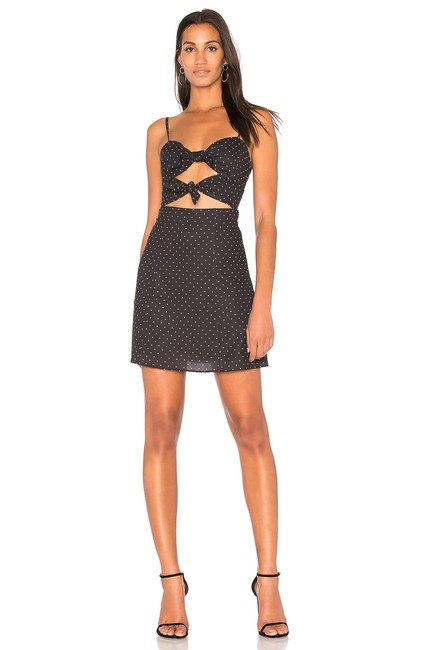 Preload https://img-static.tradesy.com/item/25011748/fame-and-partners-small-black-dot-cut-out-mini-short-casual-dress-size-8-m-0-0-650-650.jpg