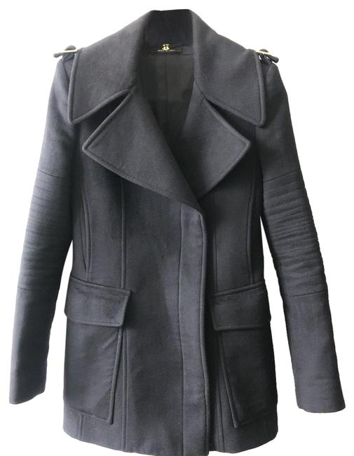 Item - Black Structured Wool Coat Size 4 (S)